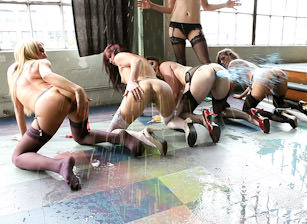Bobbi Starr's Gape Gang, Scene #01