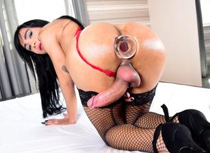Big-Cock TS Izabelle Masturbates, Cums