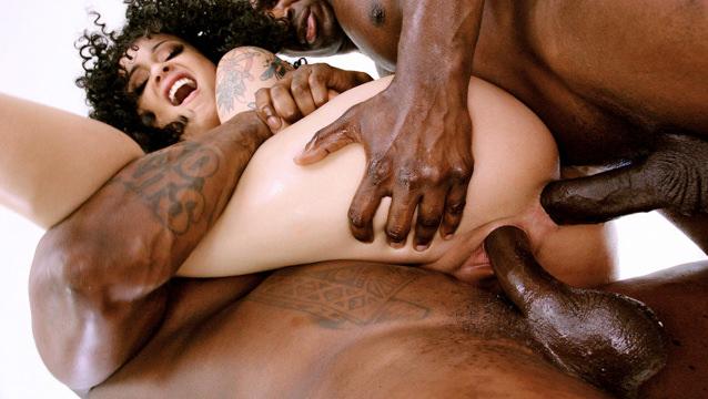 Bbw Ebony Double Penetration