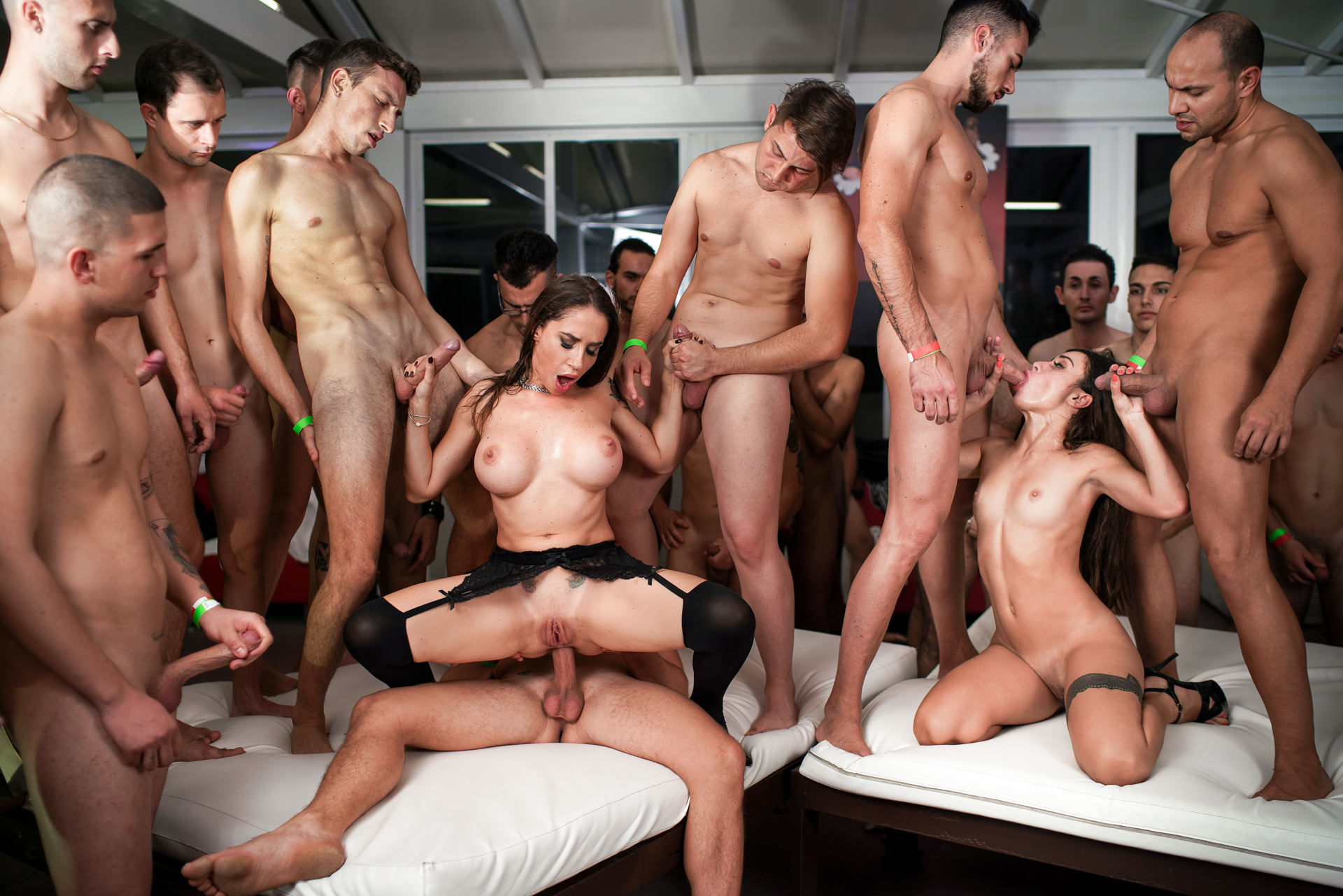 EvilAngel.com - Rocco's 69 Dicks Gang Bang Challenge: Malena VS Martina, Scene 01